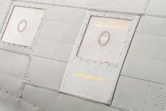 Portilla de la salida de emergencia de los aviones Fotos de archivo libres de regalías