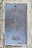 Portilla del hierro de la alcantarilla de Pisa Fotos de archivo