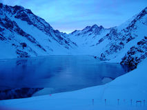 Portillo χιονοδρομικό κέντρο, στην οροσειρά των Άνδεων, Χιλή Στοκ εικόνες με δικαίωμα ελεύθερης χρήσης