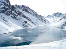 Portillo χιονοδρομικό κέντρο, στην οροσειρά των Άνδεων, Χιλή Στοκ Φωτογραφία