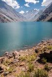 Portillo Inca Laguna e montagne Cile Fotografia Stock Libera da Diritti