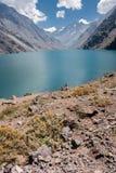 Portillo Inca Laguna and Mountains Chile Stock Images