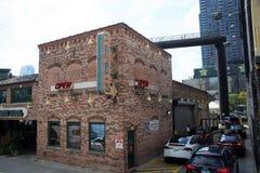 Portillo`s Italian Hot Dog Restaurant, Chicago, Illinois stock images