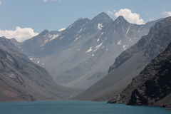 Portillo Three Brothers Mountains Chile Royalty Free Stock Photo