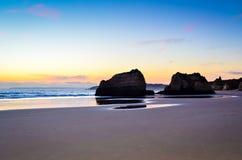 Portimao plaża Obrazy Royalty Free
