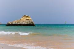 Portimao plaża, Algarve Portugalia Zdjęcia Stock