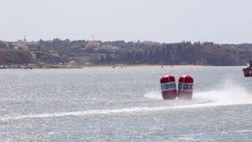 PORTIMAO, PORTUGAL: 20 de mayo de 2018 - Grand Prix portugués - acontecimiento que compite con del Powerboat F1 de la edición 201 almacen de video