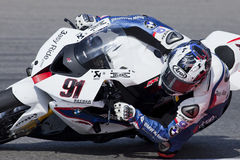 Superbikes 2011. PORTIMAO, Portugal - October 16: A closeup of Leon Haslam, the fifth place winner of World Superbikes Championship,  in Algarve, Portimao on Stock Image