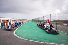Portimao, Portugal - OCTOBER 4: Unknown pilots competing in GO K Stock Photos