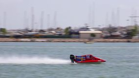 PORTIMAO, PORTUGAL : 20th MAY, 2018 - Portuguese Grand Prix - F1 Powerboat racing event of 2018 edition held on Portimao. Arade river, Portugal stock video