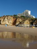 Portimao-resort on the Atlantic coast. Of the Algarve, Portugal Royalty Free Stock Images