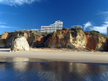 Portimao-resort on the Atlantic coast of the Algar Stock Photos