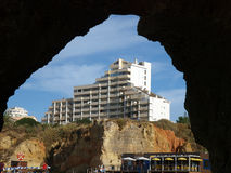 Portimao-resort on the Atlantic coast of the Algar Royalty Free Stock Photos
