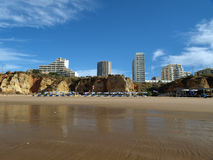 Portimao-resort on the Atlantic coast of the Algar Stock Photography