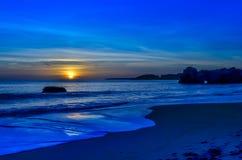 Portimao strand Arkivbild