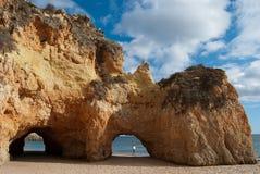 Portimao strand - Algarve Arkivfoto