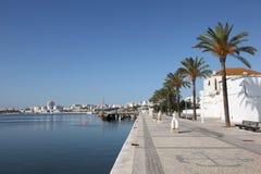 portimaoportugal promenad Arkivfoton