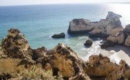 Portimaorotsen in Algarve, Portugal Stock Afbeelding
