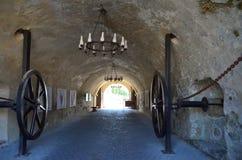 Portingång till Alba Iulia Citadel Arkivbilder