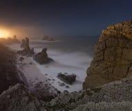 Portio night. Night photography in Portio Santander Spain Stock Photos