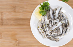 Portion of Anchovis Stock Photo