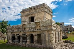 Ancient Ruins of Tulum. A portion of the ancient ruins of Tulum, Mexico royalty free stock photography
