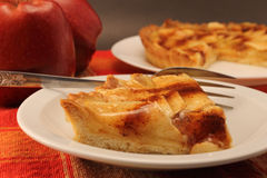 Portion of apple pie Stock Photography