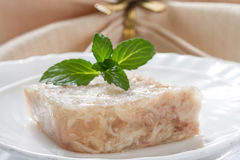 Portion aspic on a plate Stock Image