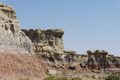 A Portion of the Badlands Canyon Wall Stock Photos