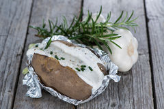Portion of Baked Potatoe Stock Images