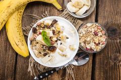 Portion of Banana Yogurt Stock Image