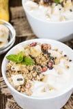 Portion of Banana Yogurt Stock Photos