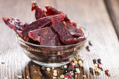 Portion of Beef Jerky Stock Photos