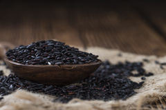 Portion of Black Rice Stock Photography