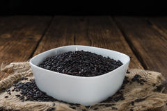 Portion of Black Rice Royalty Free Stock Photo