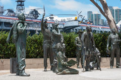 Portion of the Bob Hope Memorial at San Diego Harbor Royalty Free Stock Image