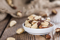 Portion of Brazil Nuts Royalty Free Stock Photo