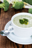 Portion of Broccoli Soup Royalty Free Stock Photo