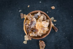Portion of brown Rock Candy Stock Photography