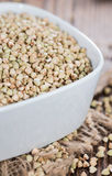Portion of Buckwheat in a bowl Stock Photo
