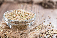 Portion of Buckwheat in a bowl Stock Image