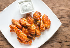 Portion of buffalo chicken wings Stock Photography