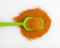 Portion of Cajun seasoning on a spoon Royalty Free Stock Images