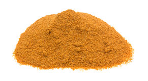 Portion of Cajun seasoning on white background Royalty Free Stock Images