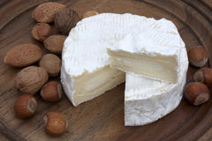 Portion of Camembert Royalty Free Stock Images