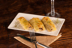 Portion of cannelloni Stock Photos