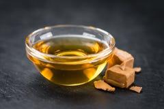 Portion of Caramel Syrup on a slate slab Stock Image