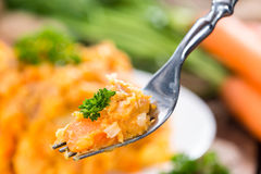 Portion of Carrot Stew Royalty Free Stock Photography
