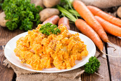Portion of Carrot Stew Stock Photo
