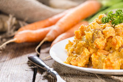 Portion of Carrot Stew Stock Photography